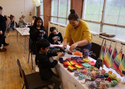 Community spirit at a local craft fair